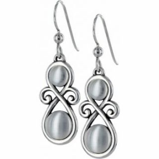 BRIGHTON ADARA SILVER FRENCH WIRE EARRINGS NWT JE2420 RTLS $28 SWEET