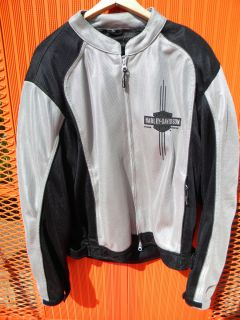 Mens Harley Davidson XL Mesh Riding Jacket Removable Body Armor 97284