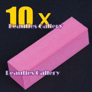10pcs Buffer Block Sanding File Acrylic Nail Art Tool Kit UV Gel Set