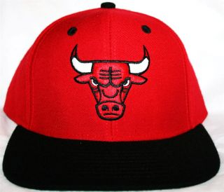 Adidas Chicago Bulls Snapback Hat Choice Red or White