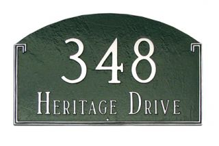 Georgetown Arch Petite Address Plaque Lawn House Sign Numbers Wall