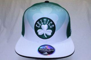 Boston Celtics NBA Adidas Offical Team Headwear Snapback Hat Cap