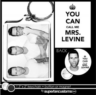 Adam Levine Keychain Button or Magnet Pin Maroon 5 Call Me Mrs Key