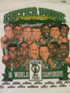Boston Celtics NBA Basketball Team T Shirt Adult Large L New Tee