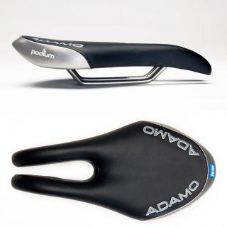 ISM Adamo Podium Road Bike Cycling Saddle Split Nose Black Silver Tri