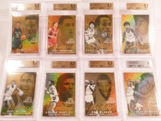 2011 12 Fleer Retro BGS Graded Insert 6 PMG Auto Lot w Jordan Lebron