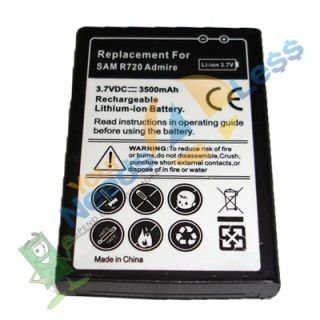 New 3500mAh Extended Battery Samsung Admire SCH R720 Back Cover