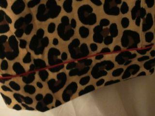 Adonna Flannel Sleep/Lounge Pants Sz Large ANIMAL PRINT Pants ~ Kitty