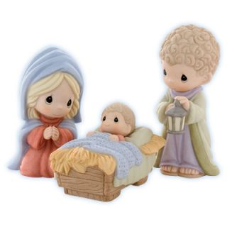 Precious Moments Come Let US Adore Him Holy Family Porcelain Nativity