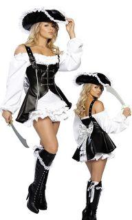 Sexy Costume Corsara Pirata Deluxe Carnevale Abito Vestito Festa