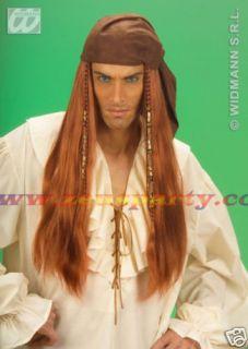 Carnevale Parrucca Pirata Caraibi Uomo Access Costume