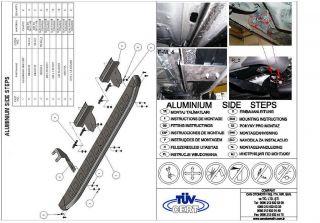 Volkswagen Amarok Aluminium Running Board Nerf Step Bar