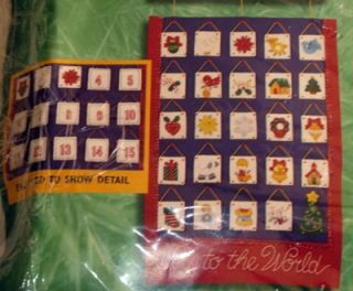 New Bucilla Nativity Christmas Advent Calendar Felt Applique