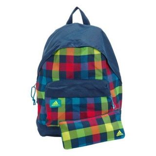 Adidas Checked Rucksack Backpack School Bag Pencil Case BNWT
