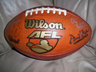 AFL Arena Football League David Baker Gameball Leather Football
