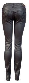Affliction Jeans Cross Pocket Black Skinny Sz 29x34 NW