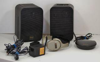 Advent Wireless Speakers with Headphones TV Audio Stereo