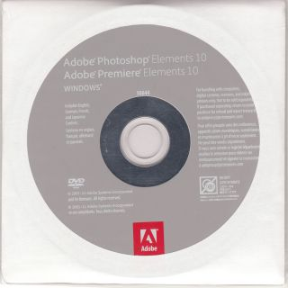 Adobe Photoshop Elements 10 and Premiere Elements 10 Brand New Wrapped