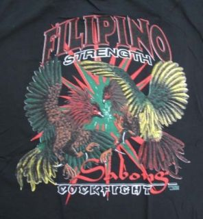 Filipino Strength Sabong Cockfight Filipino T Shirt 2XL