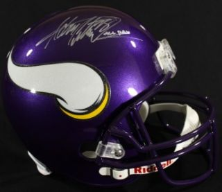 Adrian Peterson Signed Vikings FS Helmet w/ALL DAY (AD28 Hologram)