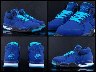 Mens Nike Air Flight 89 Dark Royal Blue Black Current Blue White