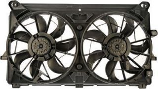 Dorman Fan Electric Dual Black Plastic Blades Shroud Cadillac Chevy