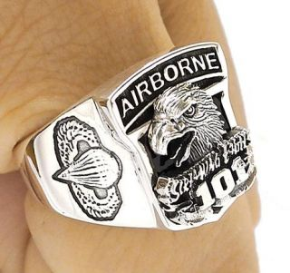 Airborne Eagle Sterling 925 Silver Ring Sz 10 New Military Jewelry