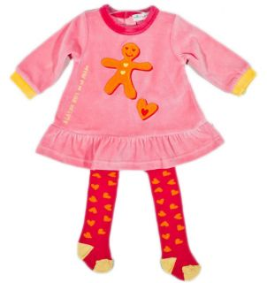 Agatha Ruiz de La Prada Cookie Set Dress Tights Socks Velvet Baby