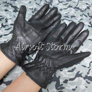 Airsoft SWAT Tactical Gear Full Finger Assault Combat Leather Gloves