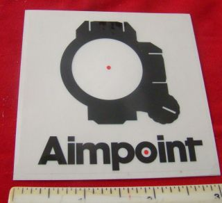 Aimpoint Red Dot Scopes Gun Firearms Decal Sticker