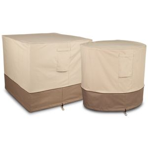 Classic Accessories Air Conditioner Cover Pebble,Earth,Bark   Round