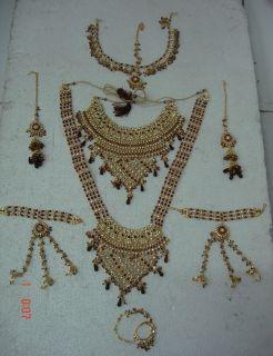 Gold Polish Polki Bridal Wedding Necklace Jodha Akbar