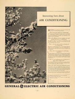 ad general electric air conditioning cherry tree original advertising