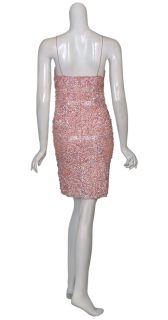 Aidan Mattox Pink Sequin Encrusted Cocktail Dress 6 New