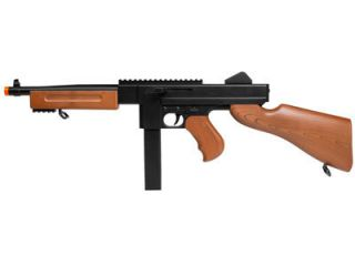 Thompson M1 Spring Airsoft Submachine Gun w Rail Full Sized SMG
