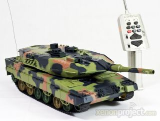 RC Remote control German Leopard II air soft battle camo toy tank 13