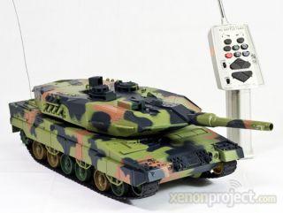 RC Remote control German Leopard II air soft battle camo toy tank 13