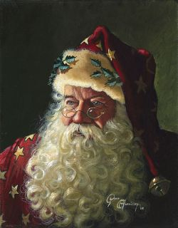 Dean Morrissey Portrait of Father Christmas A P 30 30
