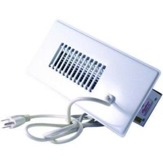 Automatic Register Booster Fan White 4x10 Heat AC Air Flow Duct Vent