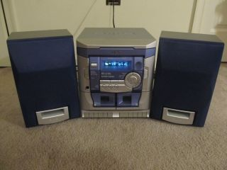 Aiwa Shelf Stereo System w/ 3 disc cd player, dual tape, am/fm stereo