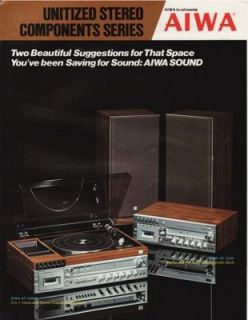 Brochure for the Aiwa AF 5080A, AF 3030 Integrated Stereo Systems