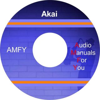 AKAI service manuals owners manuals and schematics on 1 dvd all files