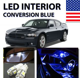 Agt Premium Series Dodge Charger 2006 2011 Interior LED Kit Pure Blue