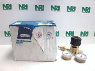 Air Liquide HPR45 C 580 Blueshield Gas Pressure Regulator Dual Gauge 3