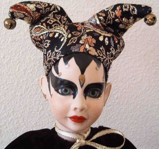 OOAK Intriguing Handcrafted Porcelain Court Jester