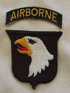 101st Airborne Patch With Tab