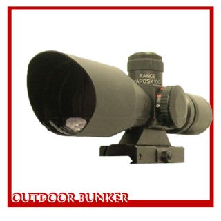 aim 2 5 10x40 illuminated tactical quick release mil dot rifle scope