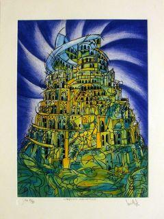 Luis Miguel Valdes 165 Cuban Art Original Print Signed