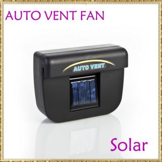 Solar Sun Powered Car Auto Air Vent Cool Cooler Fan New