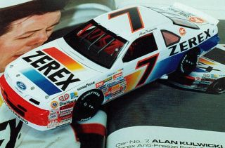 Alan Kulwicki ZEREX Ford 1/32nd Scale Decal Great for Slot Cars